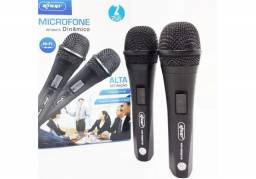 Microfone Com Fio Duplo Profissional Modelo Kp-m0015