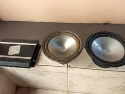 Amplificador e Alto falante 10 polegadas