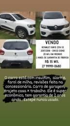 Renault Kwid Zen 1.0 Completo 2017/2018 - Única dona