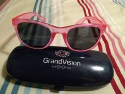 Óculos infantil escuro rosa