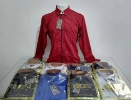 Camisas manga longa estanpado Novas
