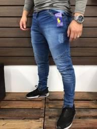 Calça jeans - diversos modelos na promoção