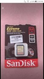 Cartão de memória SanDisk SDXC Extreme 64GB.