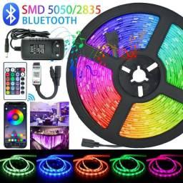 Fita Led 5050 Ultra Rgb 15 Metros Bluetooth
