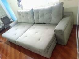 Título do anúncio: Vendo lindo sofá semi-novo cor chumbo copacabana retrátil e reclinável 1,65 x 2,90 !!
