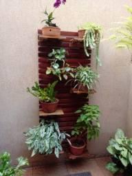 Floreira horta vertical