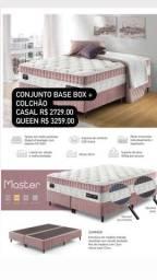 Colchão + base box casal