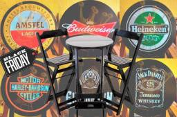 Título do anúncio: Mesa bistrô Alta de Madeira Dobrável para Restaurante