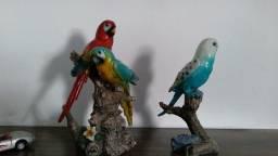 Título do anúncio: Aves de resina pintados a mão