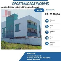 Título do anúncio: Apartamento para Venda em João Pessoa, Jardim Cidade Universitária, 3 dormitórios, 1 suíte
