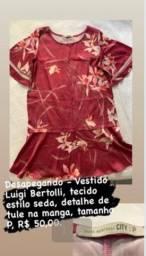 Título do anúncio: Vestido Luigi Bertolli tecido estilo seda tamanho P