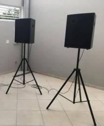 Duas caixas de som, falante 15 polegadas oversound 400wrms
