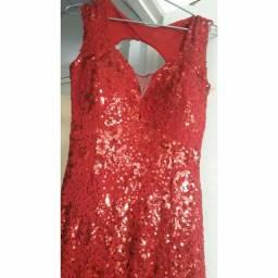 Vestido longo vermelho pra vender