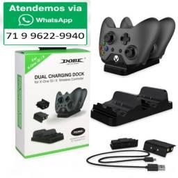 Carregador Dobe Controle Xbox One Dock + 2 Bateria 300mah