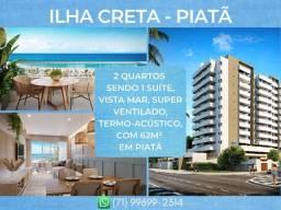 Título do anúncio: Ilha de Creta Piatã, 1 e 2 quartos entre 44m² a 62m² e 1 vaga em Piatã - Espetacular