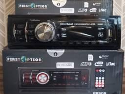 Título do anúncio: Rádio Som Automotivo MP3 Player Bluetooth USB Entrada Auxiliar e Cartão de Memória