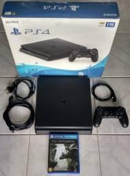 Título do anúncio: PS4 Slim 1TB Desbloqueado em excelente estado