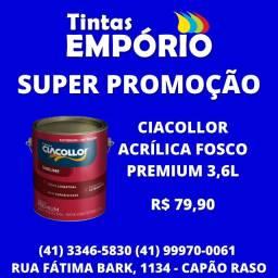 Promoção tinta Ciacollor premium 3,6L