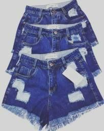Short jeans escuro destroyer