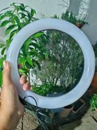 Iluminador led Ring light 2,10m com suporte para celular