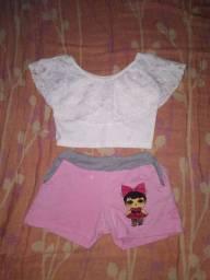 Conjunto Infantil Femenino <br>Tamanho 1 a 3 anos