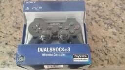 Controle Sony Dualshok sem fio para PS3. Produto novo e na embalagem