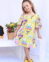Vestido trapézio infantil
