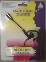 Mini fone de ouvido com microfone