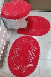 Jogo de banheiro 3 peças (crochê)