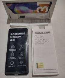 Título do anúncio: Troco Ou Vendo Samsung Galaxy A31 Na Caixa Zero Nota E Garantia (LEIA TODO O ANÚNCIO)
