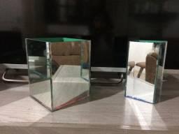Cachepos espelhados