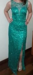 Título do anúncio: Vestido de festa verde P