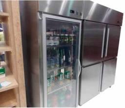 Refrigerador em  inox