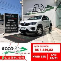 Título do anúncio: Renault Kwid KWID ZEN 1.0 FLEX 12V 5P MEC. FLEX MANUAL