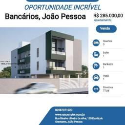 Título do anúncio: Apartamento para Venda em João Pessoa, Bancários, 3 dormitórios, 1 suíte, 1 banheiro, 1 va