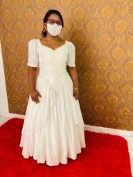 Vendo vestido de noiva 100 reais
