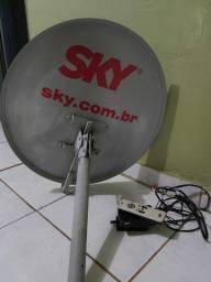Antena e aparelho Sky Livre