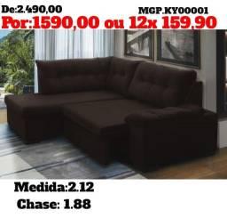 Título do anúncio: Sofa de Canto - Sofa de Canto Retratil - Sofa com Chase-Saldão em MS