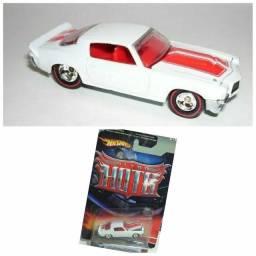 Título do anúncio: Hot Wheels Camaro branco antigo pneus de borracha
