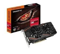 Placa de Vídeo Gigabyte Placa de Vídeo Gigabyte Radeon RX 570 Gaming, 4GB.