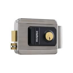Fechadura Elétrica Sobrepor Intelbras Fx 2000 Inox Cinza - Original Lacrado