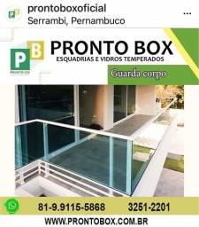 GUARDA CORPO PORTAS JANELAS PORTOES BOX DE VIDRO PRONTO BOX