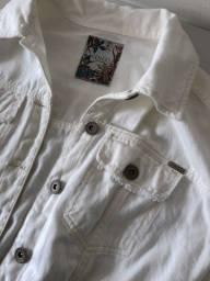 Jaqueta jeans branca colcci nova