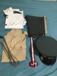 fardamento escola militar completo