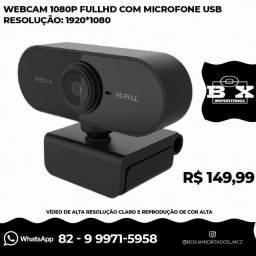 Webcam 1080p Fullhd Com Microfone Usb