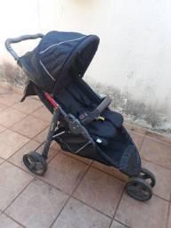 Carrinho De Bebê Cross Black 3 Rodas Galzerano