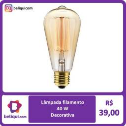 Título do anúncio: Lâmpada LED Filamento de Carbono | Branco Quente