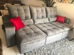 Sofá retratil e reclinável pilotop