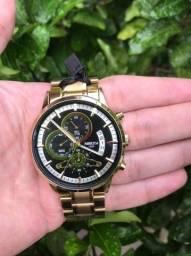 Título do anúncio: Relógio Nibosi Dourado Todo Funcional - Em Até 12x Sem Juros