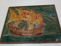 Quadro Caravela Vasco da Gama . Feito em 1965